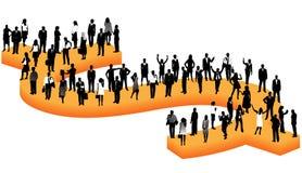 Bedrijfs mensen en dollar royalty-vrije illustratie