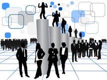 Bedrijfs mensen en grafiek Stock Afbeelding