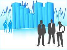Bedrijfs mensen en grafiek Stock Foto's