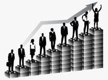 Bedrijfs mensen en grafiek Royalty-vrije Stock Afbeeldingen