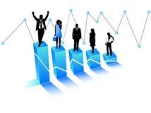 Bedrijfs mensen en grafiek Royalty-vrije Stock Foto's