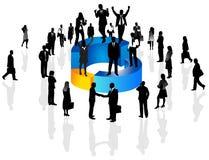 Bedrijfs mensen en grafiek royalty-vrije illustratie