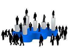 Bedrijfs mensen en grafiek Royalty-vrije Stock Foto