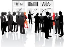 Bedrijfs mensen en grafieken Stock Afbeelding