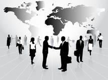 Bedrijfs mensen en kaart Royalty-vrije Stock Afbeelding