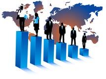 Bedrijfs mensen en kaart Stock Fotografie