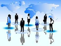 Bedrijfs mensen en kaart Royalty-vrije Stock Foto