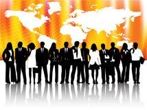 Bedrijfs mensen en kaart Royalty-vrije Stock Foto's