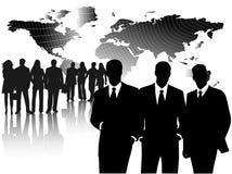 Bedrijfs mensen en kaart Stock Afbeelding