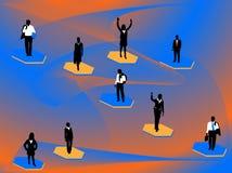 Bedrijfs mensen en samenvatting vector illustratie
