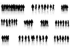 Bedrijfs mensen en schaduw Royalty-vrije Stock Foto
