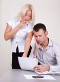 Bedrijfs mensen in het werk proces in bureau Stock Fotografie
