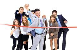 Bedrijfs mensen kruising Stock Foto's