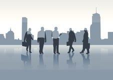 Bedrijfs mensen op achtergrond vector illustratie