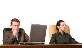 Bedrijfs mensen op de vergadering Stock Foto's