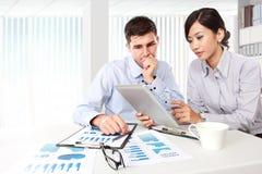 Bedrijfs mensen op de vergadering Stock Foto