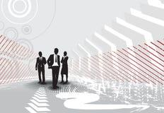 Bedrijfs mensen op halftone achtergrond Stock Fotografie
