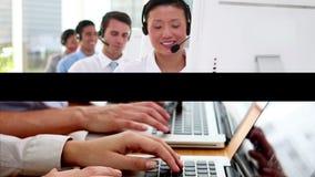 Bedrijfs mensen op het werk stock footage