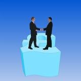 Bedrijfs mensen op pondsymbool royalty-vrije illustratie