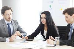 Bedrijfs mensen op vergadering Stock Afbeelding