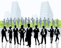 Bedrijfs Mensen in openlucht royalty-vrije illustratie