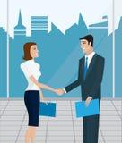 Bedrijfs mensen, overeenkomst Stock Afbeeldingen