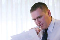 Bedrijfs Mensen - Overpeinzing Stock Foto