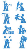 Bedrijfs mensen - pictogram Royalty-vrije Stock Foto's
