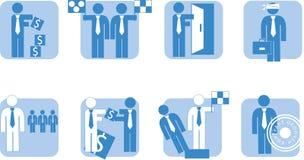 Bedrijfs mensen - pictogram Stock Foto