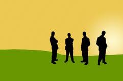 Bedrijfs mensen schaduw-12 royalty-vrije illustratie