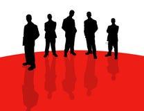 Bedrijfs mensen schaduw-2 Stock Afbeeldingen