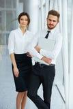 Bedrijfs mensen Succesvolle Partner Commercieel team Royalty-vrije Stock Foto