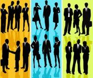 Bedrijfs Mensen - vectorsilhouet royalty-vrije illustratie