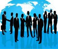 Bedrijfs Mensen - vectorsilhouet vector illustratie