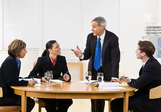 Bedrijfs mensen in vergadering Royalty-vrije Stock Foto's