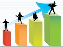 Bedrijfs mensen in verschillende voorwaarde Stock Afbeeldingen