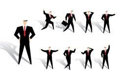 Bedrijfs mensenactie royalty-vrije illustratie