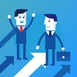 Bedrijfs mensengroepswerk vector illustratie