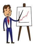 Bedrijfs mensenpresentatie van een de groeigrafiek Royalty-vrije Illustratie
