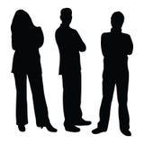 Bedrijfs mensensilhouetten Stock Afbeelding