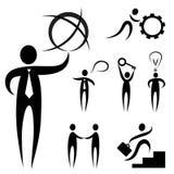 Bedrijfs mensensymbool Stock Afbeeldingen