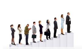Bedrijfs mensenteam en diagram Stock Foto