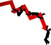 Bedrijfs mislukking vector illustratie