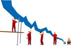 Bedrijfs mislukking Stock Fotografie