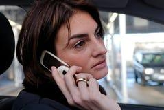Bedrijfs mobiele bespreking Royalty-vrije Stock Foto