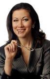 Bedrijfs model met glazen Royalty-vrije Stock Foto's