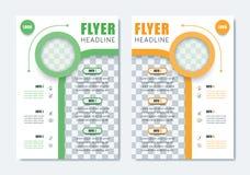 Bedrijfs Modern Brochuremalplaatje Minimalistische Schone Vliegerlay-out Stock Foto's