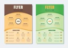 Bedrijfs Modern Brochuremalplaatje Minimalistische Schone Vliegerlay-out Stock Foto