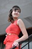Bedrijfs mooie vrouw Stock Foto
