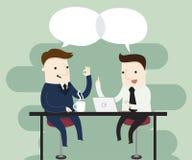 Bedrijfs onderhandelingen stock illustratie